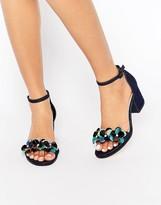 Asos HEXAGON Embellished Heeled Sandals