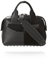 Alexander Wang Rogue Small Satchel In Suede And Leather Combo