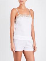 La Perla Lace-detail cotton pyjama set