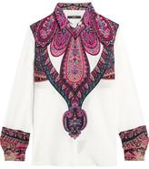 Etro Paisley-print Silk Crepe De Chine Shirt - White