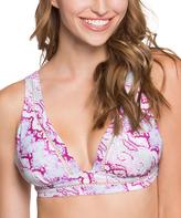 Betsey Johnson Wine Smooth Operator Bralette Bikini Top