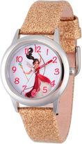 Disney Elena of Avalor Girls Gold Tone Strap Watch-Wds000281