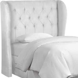 Skyline Furniture Premier White Tufted Wingback Headboard