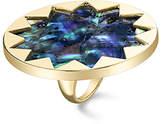 House Of Harlow Abalone Sunburst Ring