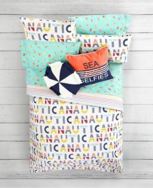 Nautica Letters Print 2-Piece Twin Comforter Set Bedding