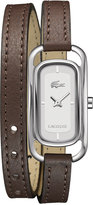 Lacoste Watch, Women's Sienna Brown Leather Double Wrap Strap 20mm 2000727