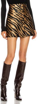 Andamane Erin Mini Skirt in Zebra Beige | FWRD