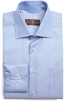 Robert Talbott Men's Classic Fit Stripe Dress Shirt