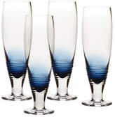 Mikasa Swirl Cobalt Pilsner Glass Set of 4