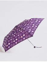 M&S Collection Heart Print Umbrella with StormwearTM