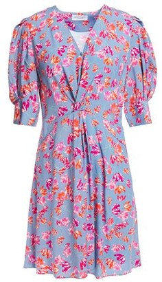 Hofmann Copenhagen Marisa Twist-front Floral-print Woven Mini Dress