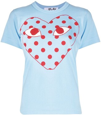 Comme des Garcons polka-dot logo T-shirt