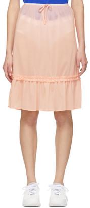 Miu Miu Pink Ruffle Hem Skirt