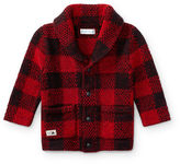 Ralph Lauren Boy Plaid Wool-Blend Cardigan