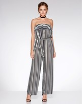 Quiz Stripe Strapless Jumpsuit
