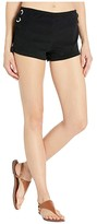 MICHAEL Michael Kors Terry Lace-Up Side Shorts Cover-Up (Black) Women's Swimwear