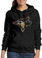 Sarah Women's Toronto Blue Jays Glod Logo Hoodie XL