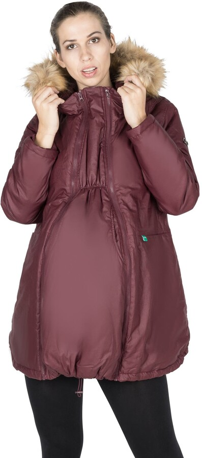 Thumbnail for your product : Modern Eternity Sofia Waxed 3-in-1 Maternity Jacket with Faux Fur Trim