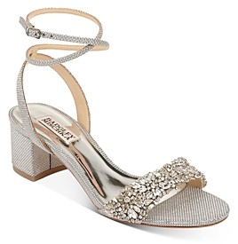 Badgley Mischka Women's Jada Embellished Strappy Sandals