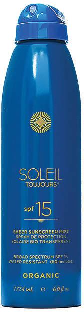 Soleil Toujours Organic Sheer Sunscreen Mist SPF 15.