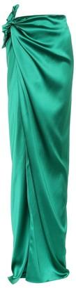 Balenciaga Satin maxi wrap skirt