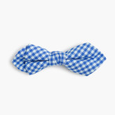 J.Crew Boys' cotton bow tie in cobalt gingham