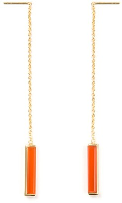 Jewel Tree London Urban Earrings Red Onyx