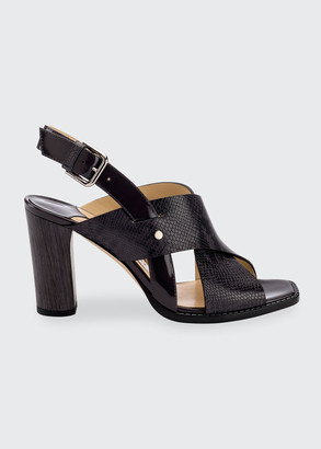 Jimmy Choo Mixed Leather Slingback Sandals
