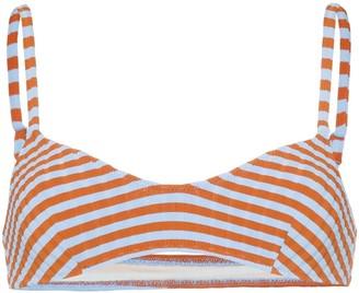 Solid & Striped The Rachel Striped Ribbed Bikini