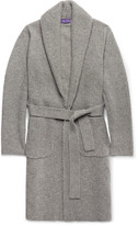 Ralph Lauren Purple Label - Shawl-collar Ribbed Cashmere Belted Cardigan