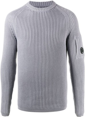 C.P. Company Ribbed Knit Crew Neck Jumper
