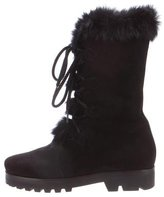 Walter Steiger Fur-Trimmed Mid-Calf Boots