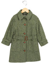 Caramel Baby & Child Girls' Belted Wool Coat