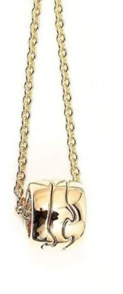 Georg Jensen 18K Rose Gold Pendant Necklace