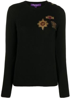 Ralph Lauren Collection Crest cashmere jumper