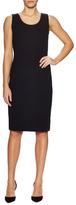 St. John Santana Wool Ribbed Knee Length Dress