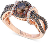 LeVian Le Vian Chocolatier Diamond Intertwine Ring (1-1/3 ct. t.w.) in 14k Rose Gold