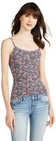 Aeropostale Womens Basic Floral Cami Gray