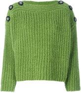 Isabel Marant button shoulder jumper - women - Polyester/Wool/Alpaca - 38