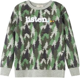 Peek Aren't You Curious Kids' Listen Tree Print Crewneck Sweatshirt