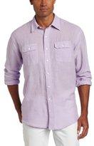 Izod Men's Long Sleeve Solid Double Pocket Shirt