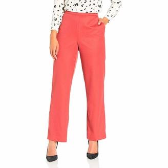 Alfred Dunner Women's Full Back Elastic Short Length Pant