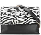 Lanvin zebra print shoulder bag - women - Leather - One Size