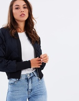 Bardot Quilted Bomber