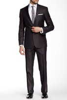 Kenneth Cole New York Woven Two Button Notch Lapel Suit