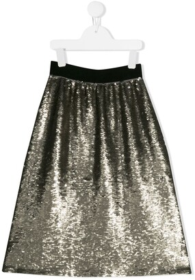 Pinko Kids sequin embroidered mini skirt