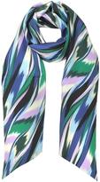 Missoni Multicolor Printed Silk Long Scarf