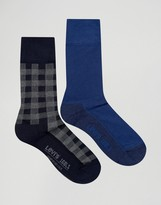 Levis Levi's Socks In 2 Pack Check Blue