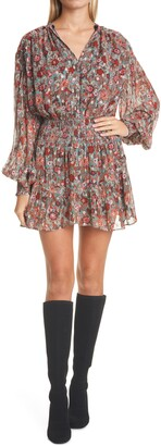 Ramy Brook Blake Print Long Sleeve Minidress