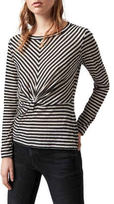 AllSaints Jess Stripe Long Sleeve T-Shirt